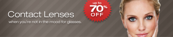 Save up to 70% off Contact Lenses